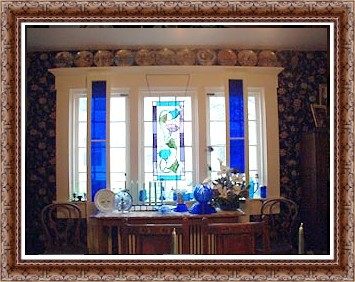 Coblat Blue Windows of the Dining Room view 1